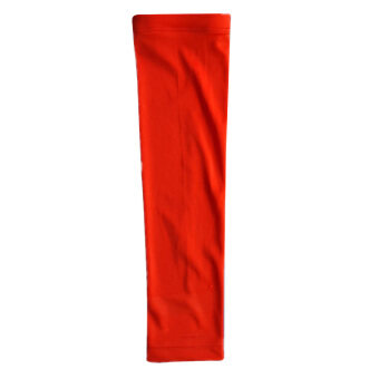 Basketball Brace Slip-Resistant Bar Lengthen Armguards Sunscreen Sports Protective Sleeve Elbow Pad Red L