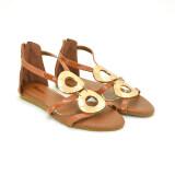 ราคา Splash Bata รองเท้าผู้หญิง ส้นแบนแบบรัดส้น Ladies Flats Sandal Contemp สี น้ำตาล รหัส 5614740 Bata ใหม่