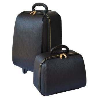 BB-Shop กระเป๋าเดินทางเซ็ทคู่ 18/14 นิ้ว L-Louise Classic (Black) สินค้ามาตราฐานลิขสิทธิ์และขนาดแท้จากโรงงานโดยตรง