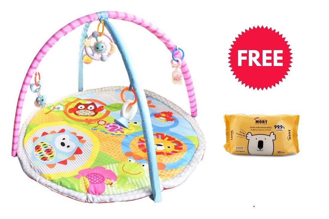 ซื้อที่ไหน เพลยิม Play Gym + Play Mat With Toys เสริมพัฒนาการ With ( Free Baby Moby Wet Wipes X 1)