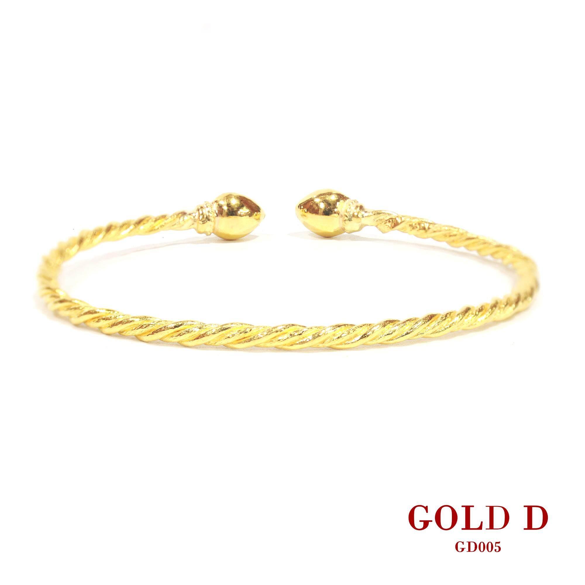 กำไลหัวบัวทองแท้ 96.5% หนัก 2 สลึง By Gold D.