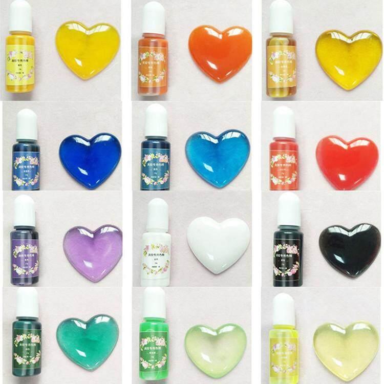 สีผสมเรซิ่น แพคset สีทีบ ใช้กับเรซิ่นทุกชนิด สีสด สีทนไม่ซีด น้ำยาเรซิ่นใส 10g Bottles Epoxy Uv Resin Coloring Dye Colorant Pigment Mix Color Diy Kit ขวดน้ำสำหรับย้อมสีผม.