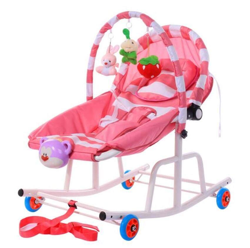 รีวิว super baby เปลโยกและเก้าอี้โยกสำหรับเด็ก แบบใหม่ 3 in1 มีล้อ ขนาดใหญ่ แข็งแรง ทารกถึงเด็ก ปรับได้ 3 ระดับ รุ่น:Y9