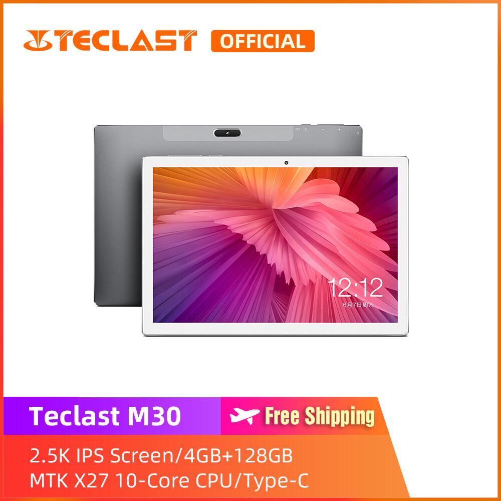 [ Teclast Official ] แท็บเบล็ต M30 / 10.1 นิ้ว 2.5K หน้าจอ IPS / 4GB RAM 128GB ROM / Android 8.0 / ซิมนาโนนาโนคู่ / เมนูไทย / Type-C / รับประกัน 1 ปี
