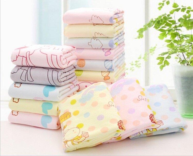 ผ้าเช็ดตัวนาโนลายน่ารัก สีพาสเทล ขายยกแพ็ค 1 แพ็คมี 6 ผืน.