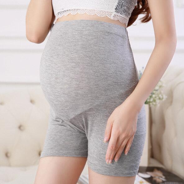 Sanay Bra (n261) กางเกงขาสั้นคนท้อง เอวสูง พยุงครรภ์ มีสายปรับระดับที่เอว.