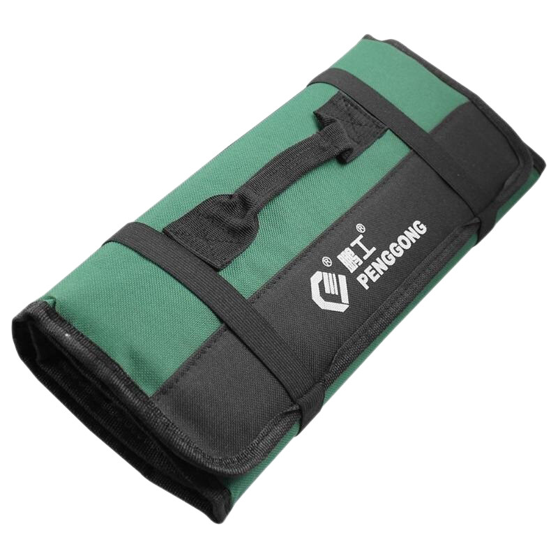 Penggong Multifunction Oxford Cloth Folding Wrench Tool Bag Roll Storage Pocket Tools Pouch Instrument Case Organizer Holder Green