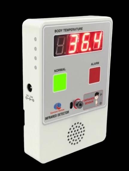 non contact thermal scan - infrared : เครื่องวัดอุณหภูมิอินฟราเรด แบบไม่สัมผัส สแกนรวดเร็ว อย่างน้อย 60 คน ต่อ นาที ค่าความเที่ยงตรง +/- 0.3 องศาเซลเซียสเท่านั้น อยู่ในเกณฑ์ Medical grade