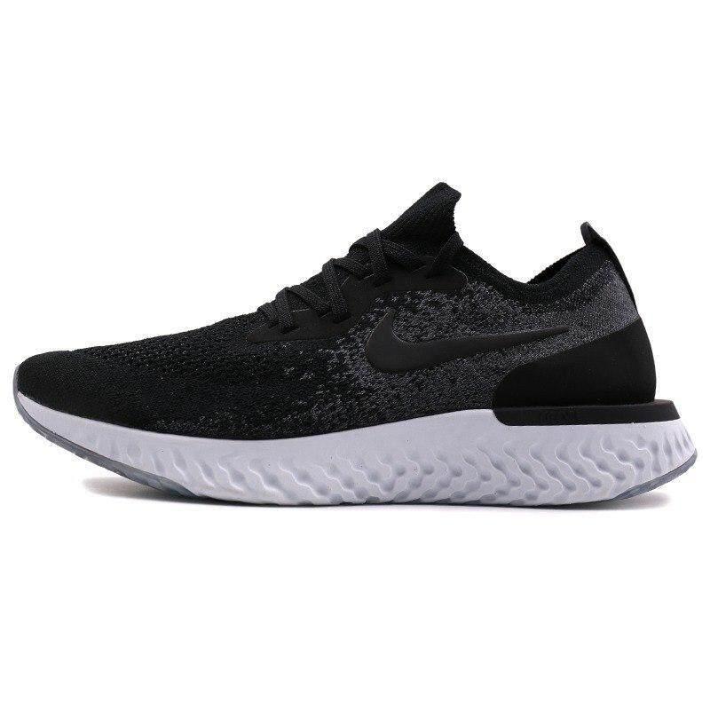 Nike Epik Bereaksi FLYKNIT Pria Berlari Sepatu Stabilitas Lace-Up Olahraga  Sneakers 5792095311