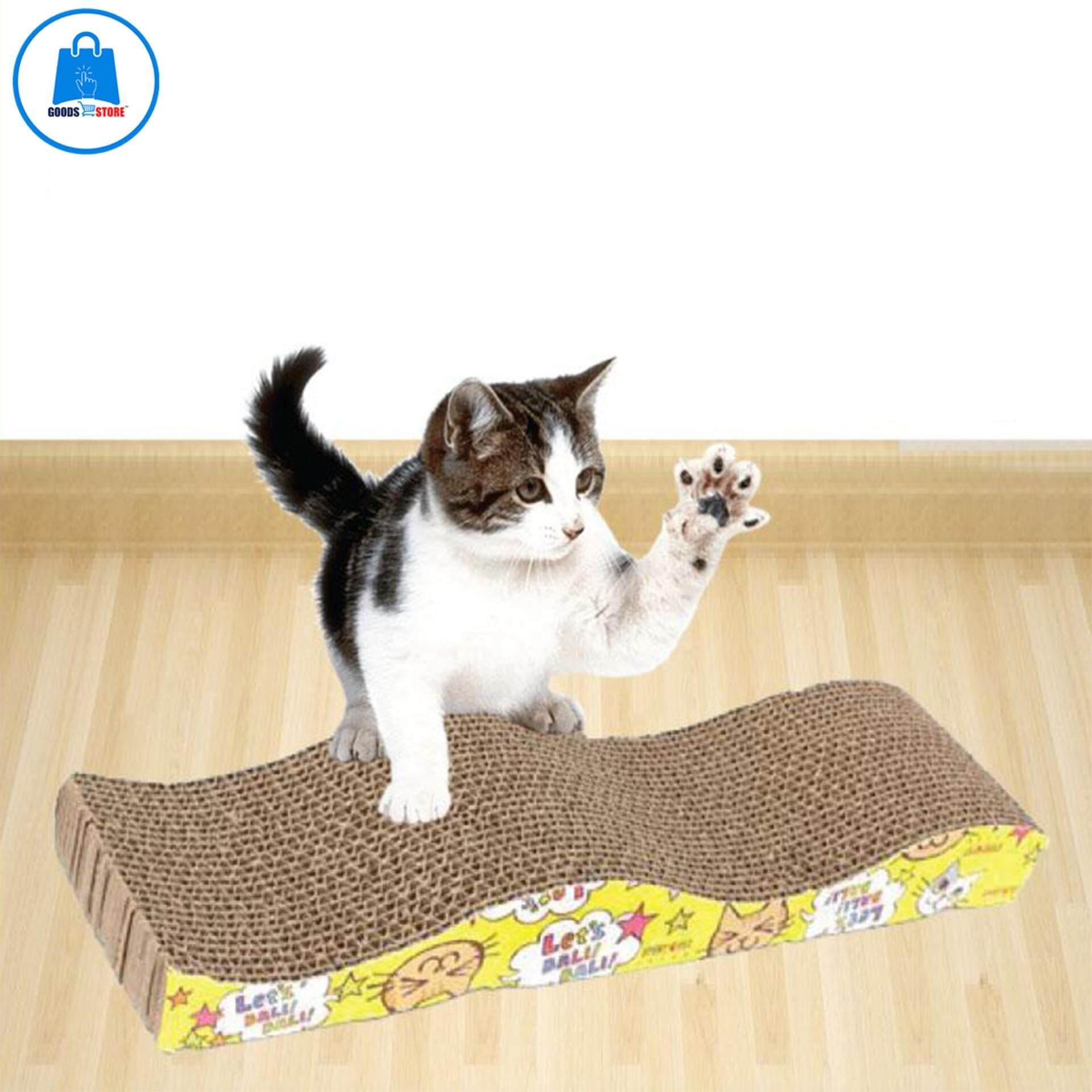 ที่ลับเล็บแมวกระดาษลูกฟูก ฟรีหญ้าแมว(แคทนิป) By Goodsstoreonline.