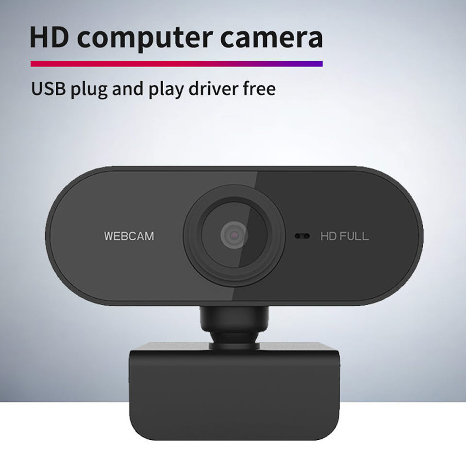 [arrival In 1-3 Days]1080p 2k Webcam Hd Web Camera For Computer Pc Laptop Video Meeting Class Web Cam With Microphone 360 Degree Adjust Usb Webcam Support Win7/8/10.