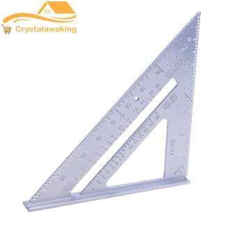 Aluminum Alloy Square Protractor Miter Framing Measurement Silver