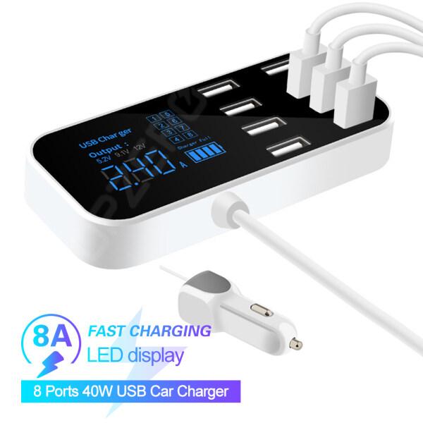 AAbest Bộ Chuyển Đổi Đa Cổng USB 8 Bộ Sạc Tường Để Bàn Trạm Sạc Màn Hình LED Thông Minh Dành Cho IPhone Xiaomi Sạc Di Động Cầm Tay