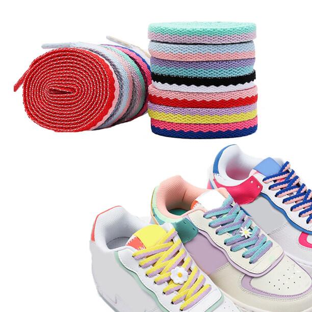 Giày Thể Thao, Giày Nhỏ Màu Trắng, Phụ Kiện Giày Hai Lỗ Giày Dây Giày Dệt Dây Ren giá rẻ