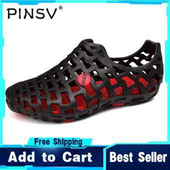 PINSV Sandals สำหรับผู้ชายและผู้หญิงรองเท้าแตะส้นแบนรองเท้าชายหาด