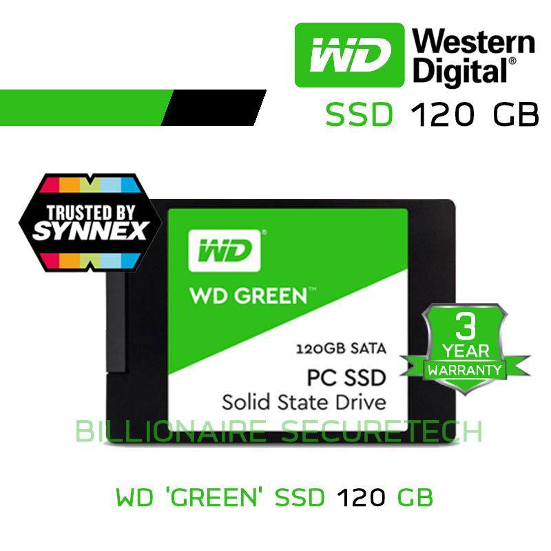 Wd Green 120gb Internal Solid State Drive - Ssd (wds120g1g0a) Sata รับประกัน 3 ปี (by Synnex) By Billionaire Securetech.