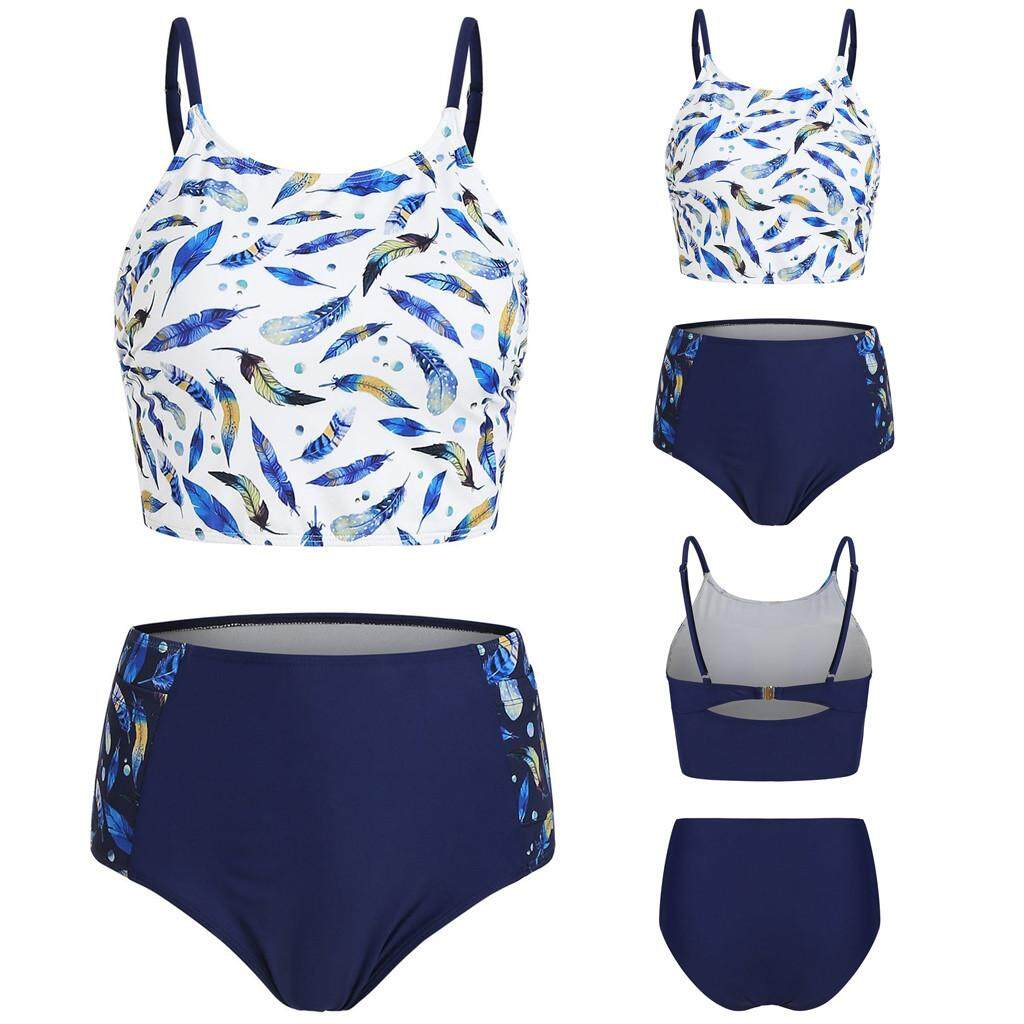 4e8d31be78 Vinsonshop Women Two Pieces Bathing Suits Top With High Waisted Bottom Bikini  Set