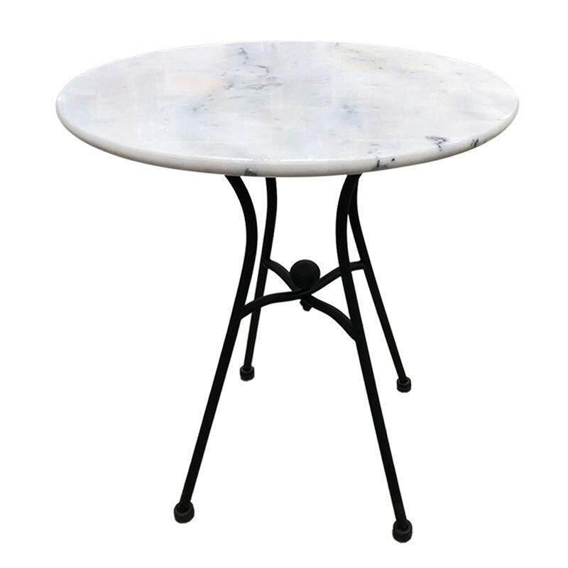 เก้าอี้พลาสติกเต๊นท์สนามfonte โต๊ะลายหินอ่อนทรงกลม รุ่น M1457 ขนาด 60 X 60 X 71 ซม. สีขาวเฟอร์นิเจอร์สนาม1.