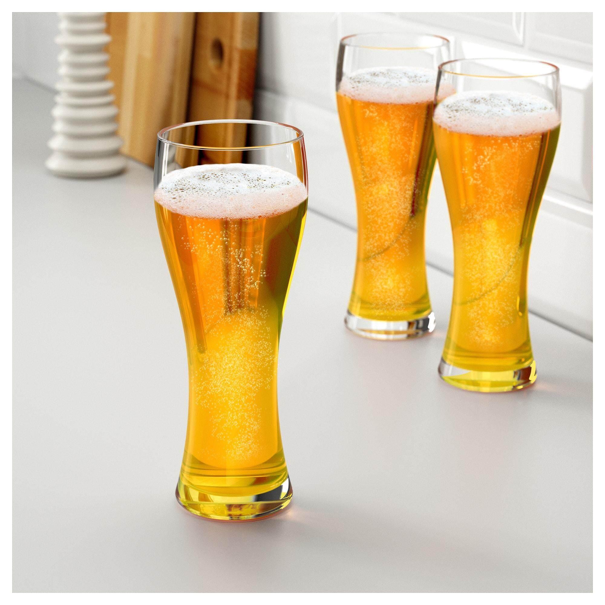 ลดราคา OanvÄnd อูอันแวนด์ แก้วเบียร์ แก้วใส แก้วทรงสูงเหมาะที่สุดสำหรับวีทเบียร์ขอบแก้วโค้งเข้า ช่วยให้เบียร์มีฟองเพิ่มขึ้น ส่วนขนาดของแก้วที่ใหญ่เป็นพิเศษ ช่วยให้เบียร์มีกลิ่นและรสชาติดีขึ้น By Tookstuta.