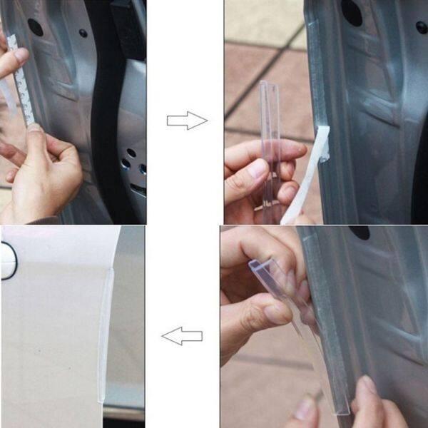 BELIE Nóng Bức 8 Cái Sạch Xe Ô Tô Dải Bảo Vệ Khuôn Cắt Bảo Vệ Cạnh Cửa Chống Chà Xát Scratch Protector