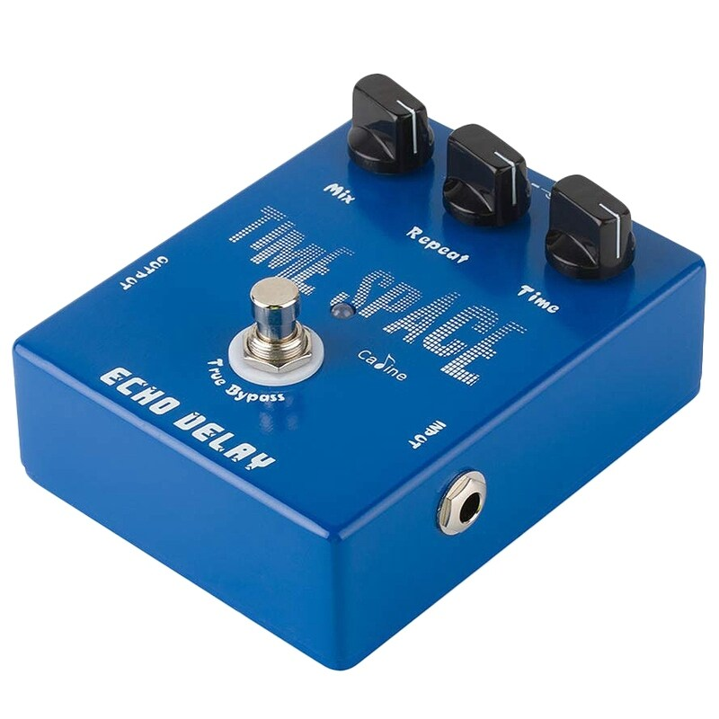 Caline CP-17 Echo Delay Guitar Effects Pedal Time Space Bass Distortion True Bypass Blue Malaysia