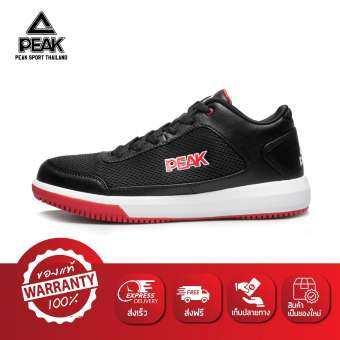 PEAK รองเท้า บาสเกตบอล Basketball shoes พีค รุ่น E42091A - Black/Red-