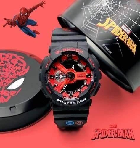 G-Shock สไปเดอร์แมน นาฬิกา Casio G-Shock Spiderman รุ่นใหม่ล่าสุด 2019 นาฬิกาจีช็อค ราคาพิเศษ พร้อมกล่องเหล็ก Gshock นาฬิกากีฬา มีเก็บเงินปลายทาง.