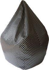 โปรโมชั่น Beanbagthailand เก้าอี้ทรงหยดน้ำ ผ้าสปองค์ รุ่น Beanbag สีดำจุดขาว Esupersave ใหม่ล่าสุด