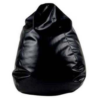 BeanBagThailand เก้าอี้ทรงหยดน้ำ  Dia: Ø80 cm รุ่น Beanbag(สีดำ) -หนังเทียม PVC - color: Black-