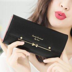 ส่วนลด Beauty Bag กระเป๋าสตางค์ใบยาว กระเป๋าเงินผู้หญิง กระเป๋าสตางค์น่ารัก รุ่น Lw 020 สีดำ Beauty Bag