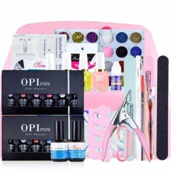 Beauty item อุปกรณ์เพ้นท์เล็บ และอุปกรณ์ทําเล็บ สีทาเล็บ และต่อเล็บเจล ครบเซ็ต พร้อมยาทาเล็บ 12ขวด