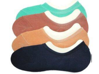 Beaver ถุงเท้าแฟชั่นผู้หญิง ซ่อนข้อ (ข้อสั้นพิเศษ) คละสี (แพค 4 คู่)
