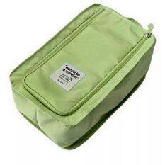 ส่วนลด Beckycat กระเป๋าใส่รองเท้าแบบ 2 คู่ มีแผ่นจัดระเบียบด้านใน สีเขียว