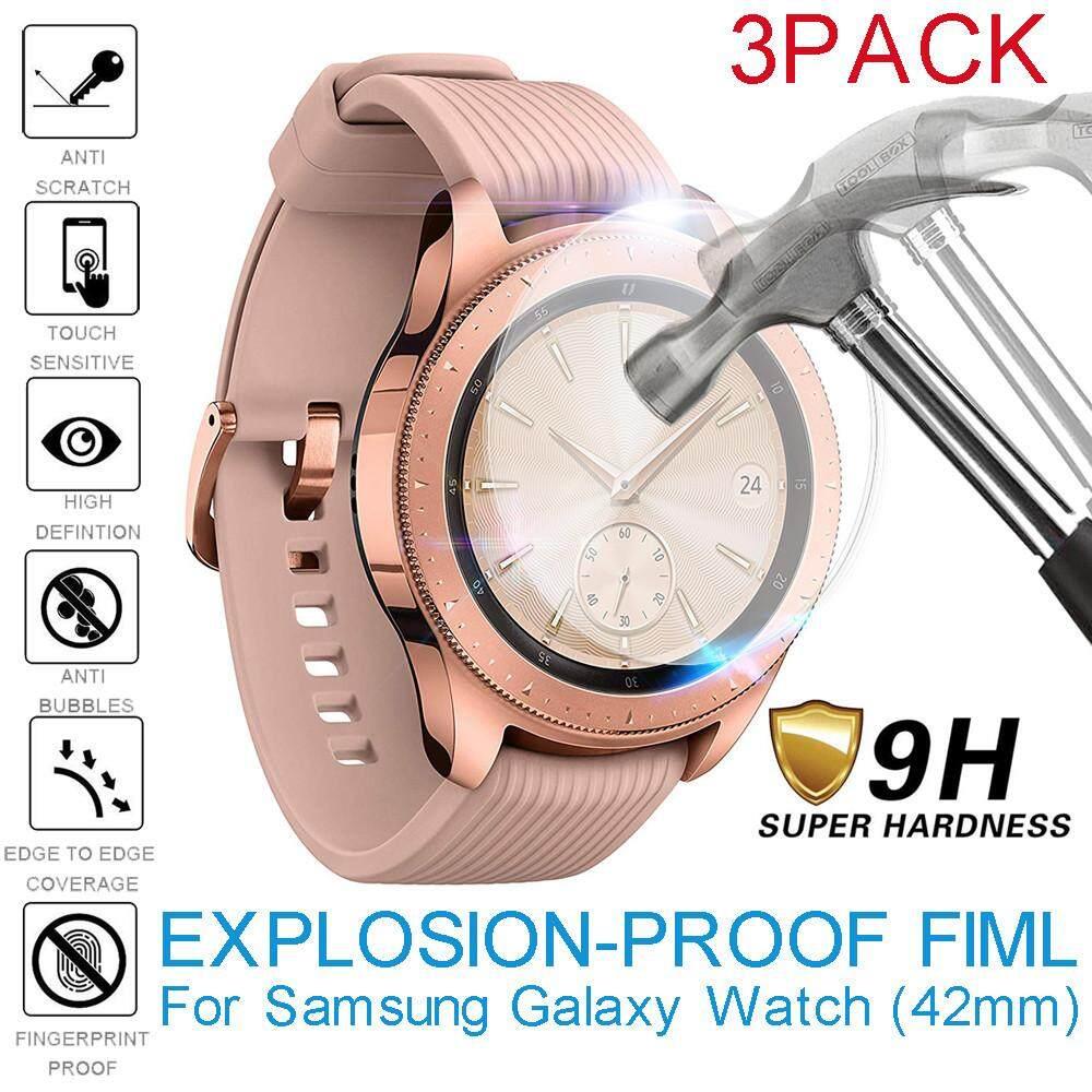 3 Pack Explosion-Proof Pelindung Layar TPU Film untuk Samsung Galaxy Watch (42 Mm)