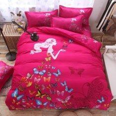 Bedding Cheap ชุดผ้าปู ผ้านวม 6 ชิ้น 6 ฟุต รุ่น Mibo204.