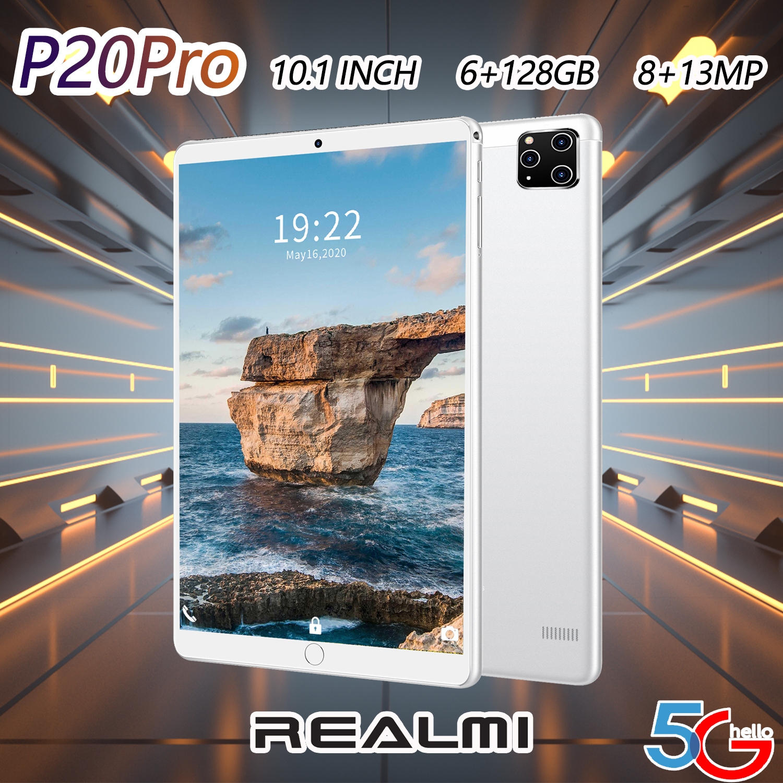 ศูนย์ไทย Realmi ? (6+128gb) แท็บเล็ตพีซี 5g แท็บเล็ต Android 8.0 Ram 6gb + Rom 128gb Tablet หน้าจอhdขนาดใหญ่10.1 นิ้ว ระบบปฎิบัติการ หน่วยประมวลผล 8-Core รองรับภาษาไทยและอีกหลากหลายภาษา Wifi+บลูทูธ แท็บเล็ตโทรได้4g มี Gps ในตัว จอแสดงผลแบบ Ips.