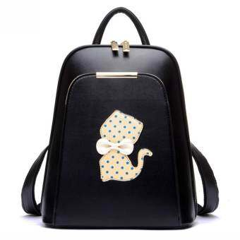 Beibaobao กระเป๋าเป้ Polka Dot Cat Black สีดำ