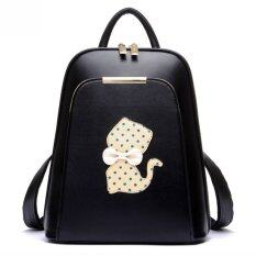 Beibaobao กระเป๋าเป้ Polka Dot Cat Black สีดำ ไทย