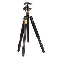 Beike Q-999 ขาตั้งกล้อง กางได้สูงสุด 159 ซม. รับน้ำหนักได้ 8 กก. แข็งแรงแต่น้ำหนักเบา 2-in-1 Tripod and Monopod (Black)