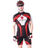 ทบทวน Benice ชุดปั่นจักรยานแขนสั้น Cozy Breathable Bike Cycling Couple Models Clothing Quick Men S Dry Cycling Suit Bicycle Cycling Jerseys Bike Jerseys Sportswear Sets สีแดง
