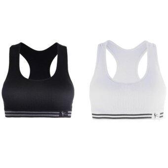 Benita Seamless Sport Bra - บราสวมสบาย คนท้อง เซ็ท 2 ตัว สีขาว ดำ