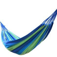 Best Portable Cotton Rope Outdoor Hammock ( Blue ).