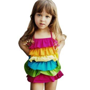 BEST รุ้ง ชุดว่ายน้ำ Swimsuit For GirlsChild Bikini - Colourful(Intl)