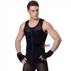 ขาย Best Shape เสื้อกระชับสัดส่วนผู้ชาย รุ่น Waist Chest Trimmer สีดำ Best Shape