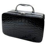 ราคา Best Waterproof Crocodile จระเข้ กระเป๋า Makeup Bags Cosmetic Organizer Bags Black เป็นต้นฉบับ