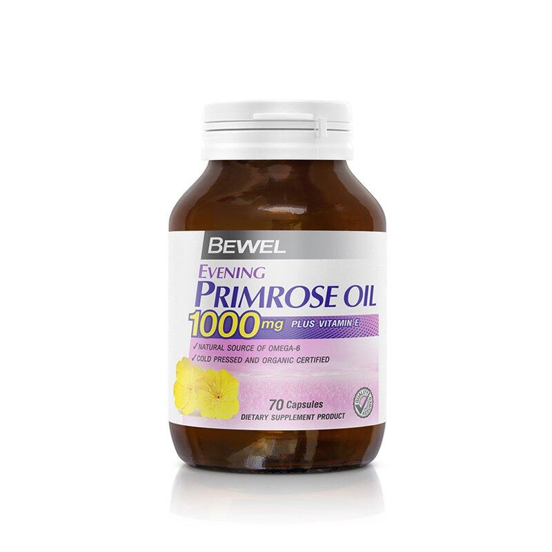 Bewel Evening Primrose Oil 1000mg Plus vitamin E  (70 Capsule)