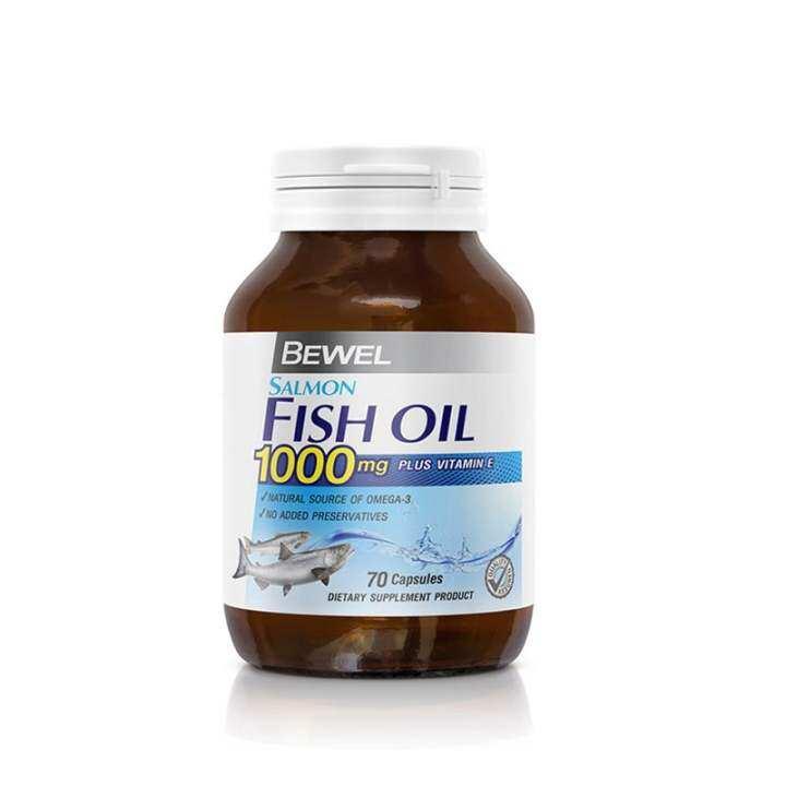 Bewel salmon fish oil 1000 mg plus vitamin e 70 capsule for Fish oil vitamin e