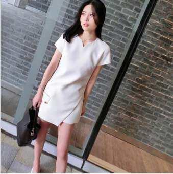 2019 ผู้หญิงใหม่เสื้อสูททรงสลิมสีขาว 2 ชิ้นชุดกางเกงขาสั้นแฟชั่นชุดเดรสหน้าร้อน