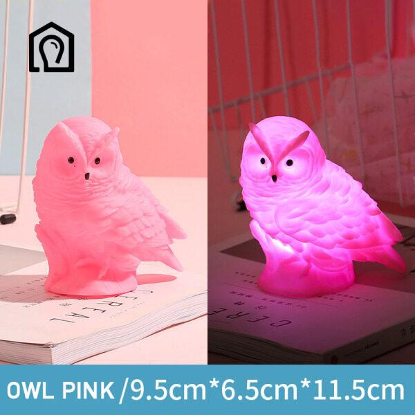 Bảng giá IHB032 Phim hoạt hình INS Owl Night Light Phòng trẻ em Sleep Night Light School Món quà đêm lớn (Owl)