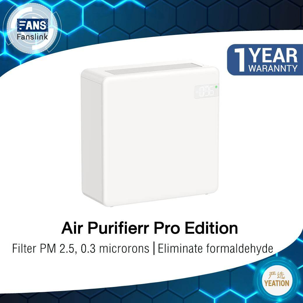 Yeation Intelligent Air Purifierr Pro Edition 2.5pm , 0.3pm By Fanslink Tech.